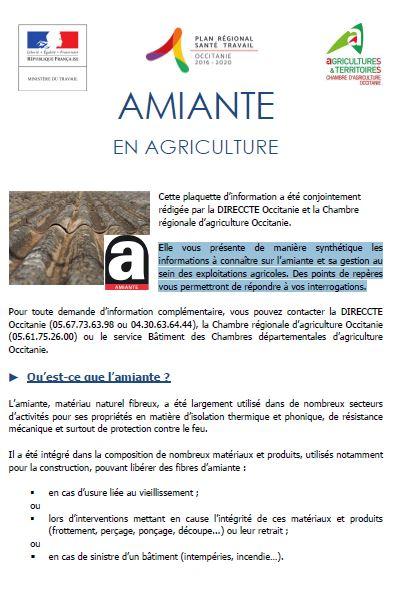 Amiante en agriculture chambre d 39 agriculture tarn et garonne - Chambre agriculture avignon ...